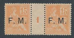 EC-748: FRANCE: Lot Avec FM N°- Mill 1 (mais Gomme Partielle) - Millésime