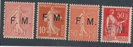 EC-749: FRANCE: Lot Avec FM** N°4-5-6-7 - Militärpostmarken