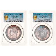 Monnaie, France, Napoleon III, 5 Francs, 1855, Paris, Paire Essais Unifaces - J. 5 Francs