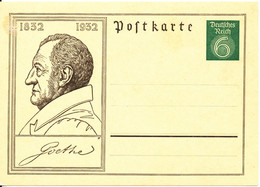 Germany Reich Postcard Postal Stationery 1932 Goethe In Mint Condition - Lettres & Documents