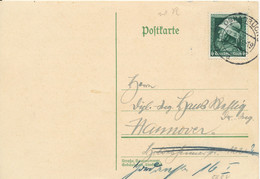 Germany Reich Postcard Sent To Hannover Osnabrück 17-3-1935 - Lettres & Documents