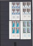 N° 1499 à 1506  Monuments Et Sites: Belle Série En Blocs De 4 Timbres Neuf Impeccable Voir Scan - Neufs