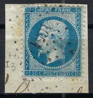 FRANCE Ca.1863: Le Y&T 22, Obl. PC Du GC 1051 (Clermont-de-l'Oise, Oise) - 1871-1875 Cérès