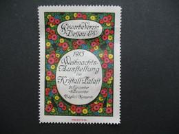 Vignette Label Stamp vignetta Filatelico Aufkleber Allemagne Gewerbe Verein Deffau Weihnachts  Ausstellung 1913 - Autres