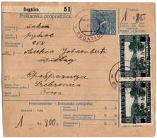 1919 Bosnien Rogatica > Srebrenica Postbegleitadresse Mit Aptierten Stempeln - Lettres & Documents
