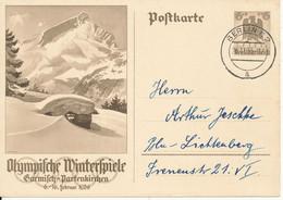 Germany Reich Postkarte Postal Stationery Berlin 26-11-1935 Olympische Winterspiele Garmisch-Partenkirchen - Lettres & Documents