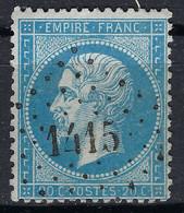 FRANCE Ca.1863: Le Y&T 22, Obl. PC Du GC 1415 (Espalion, Aveyron) - 1871-1875 Cérès