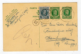 BELGIUM: 1927 Uprated Postal Stationery Postcard (S978) - Lettres & Documents