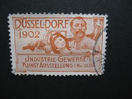 Vignette Label Stamp vignetta Filatelico Aufkleber Allemagne Dusseldorf 1902 Industrie Gewerbe Kunst Ausstellung - Autres
