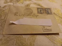 LETTERA CON COPPIA 25 LIRE COLONIE ITALIANE - BENGASI 1934 - Libye