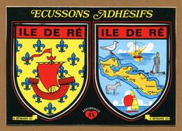 ILE DE RE  (17) : ECUSSON BLASON ADHESIF  (CPM) - Ile De Ré