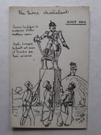 CARTE LITHOGRAPHIE A.PIQUE ÉDITION CAMPISTRO PERPIGNAN LE UN TRONE CHANCELANT ILLUSTRATEUR AOUT 1914 - Patriotic