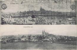28 - Chartres (Eure-et-Loir)  - Vue De La Ville - Autrefois En 1612 - Aujourd'hui En 1912 - Chartres