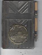 50 -MONT St MICHEL - Carnet De Bal Métallique Peu Courant Avec Effigie Du Mont ( + Crayon Et Feuillets ) - Accessori & Bustine