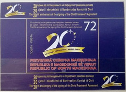 NORTH MACEDONIA 2021 - THE 20th ANNIVERSARY OF THE SINGING OF THE OHRID FRAMEWORK AGREEMENT MNH - Macedonia