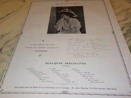 ANCIENNE PUBLICITE PARFUM NATUREL LENTHERIC YVONNE DE BRAY  1907 - Other