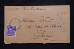 VENEZUELA - Enveloppe De Caracas Pour Paris Par Voie De Bordeaux - L 103470 - Venezuela