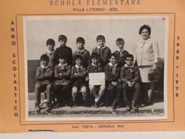 Italy Italia Foto  Scuola Elementare VILLA LITERNO Caserta 18 X 13 Cm. 1969-1970 - Otros