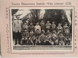 Italy Italia Foto  Scuola Elementare VILLA LITERNO Caserta 18 X 13 Cm. 1968-1969 - Otros