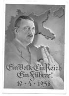 """(J) PROPAGANDA AK """"EIN VOLK, EIN REICH, EIN FÜHRER"""" 10.4.1938 MIT ÖSTERR. DEUT. MiF UND SST WIEN, LINZ - Brieven En Documenten"""