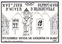 France Postcard 1992 Albertville Olympic Games - Mint (DD25-37) - Winter 1992: Albertville