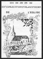 Gussignies (59) 1989 - Messe D'Inauguration De L'Eglise - Programmes