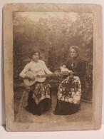 Italy Italia Foto SuperAlbum Da Identificare. Donne Con Libro E Chitarra. Woman With Book And Guitar - Otros