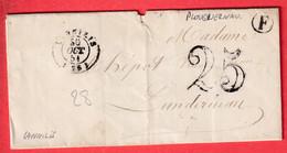 CAD TYPE 15 LANNILIS FINISTERE BOITE RURALE F PLOUGUERNAU 1851 POUR LANDERNEAU - 1849-1876: Classic Period