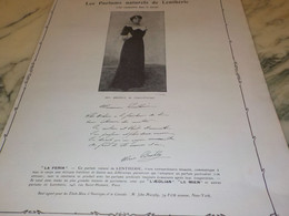 ANCIENNE PUBLICITE PARFUM  LENTHERIC MLLE BROHLY 1907 - Other