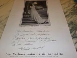 ANCIENNE PUBLICITE PARFUM  LENTHERIC MM PAULE ANDRAL 1907 - Other