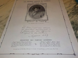 ANCIENNE PUBLICITE PARFUM  LENTHERIC MLLE SUZANNE AVRIL 1907 - Other