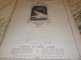 ANCIENNE PUBLICITE PARFUM  LENTHERIC MLLE CLEO DE MERODE 1907 - Other