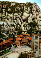 Spain Montserrat Monastery Aerial View - Barcelona