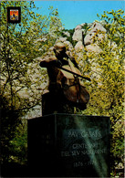 Spain Montserrat Monastery Monument To Pau Casals - Barcelona