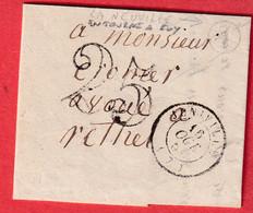 CAD TYPE 15 JUNIVILLE ARDENNES BOITE RURALE A LE NEUVILLE EN TOURNE A FUY POUR RETHEL 1851 - 1849-1876: Classic Period
