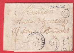 CAD TYPE 15 NOGENT HAUTE MARNE BOITE RURALE G LE LEIZE POUR BOURMONT 1853 - 1849-1876: Classic Period