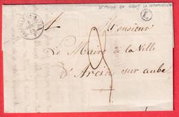 CAD TYPE 15 MARCILLY LE HAYER AUBE BOITE RURALE L LE MAIRE DE RIGNY LA NONNEUSE POUR ARCIS SUR AUBE 1848 - 1849-1876: Classic Period