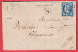 N°14 PC 1807 LUSIGNY AUBE OR DE MONTIERAMEY POUR CHAUMONT HAUTE MARNE INDICE 9 - 1849-1876: Classic Period