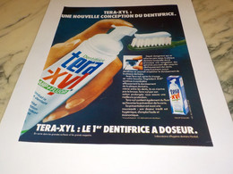 ANCIENNE PUBLICITE DENTIFRICE TERA XYL   2005 - Other