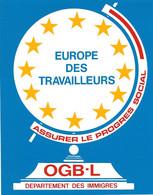 STS369 - STICKER ADESIVO EUROPE DES TRAVALLEURS (Lussemburgo) - Stickers
