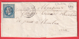 N°29 GC 427 BELLEGARDE SUR VALSERINE AIN OR L'HOPITAL POUR NANTUA - 1849-1876: Classic Period