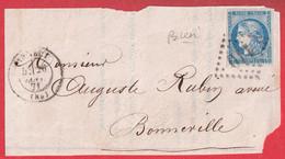 N°45A TTB GC 110 ANNECY HAUTE SAVOIE POUR BONNEVILLE DEVANT DE LETTRE FRONT COVER - 1849-1876: Classic Period