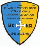 STS158 - STICKER ADESIVO RADUNO MOTOCICLISTICO MADONNA DEI CENTAURI - Stickers