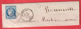N°45A GC 3101 REIGNIER HAUTE SAVOIE POUR BONNEVILLE DEVANT DE LETTRE FRONT COVER - 1849-1876: Classic Period