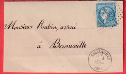 N°46B GC 3274 SALLANCHES HAUTE SAVOIE CAD TYPE 16 POUR BONNEVILLE DEVANT DE LETTRE FRONT COVER - 1849-1876: Classic Period