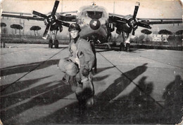 "2269"" FOTO- AEREO C 119 E PARACADUTISTA A PISA 1957""  Misure ( 6.50x 10.50) - Aviation"