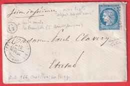 N°60 GC 966 CHATILLON SUR LOINGT LOIRET BOITE RURALE G LES BEAUCHETS POUR ETRETAT SEINE INFERIEURE - 1849-1876: Classic Period