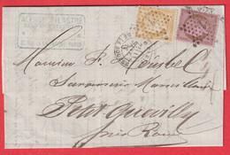N°54 55 PARIS ETOILE 1 PL DE LA BOURSE POUR PETIT QUEVILLY SEINE INFERIEURE - 1849-1876: Classic Period