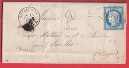 N°60 GC 1645 GERARDMER VOSGES BOITE RURALE A LIEZY POUR DOCELLES - 1849-1876: Classic Period