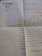 Lettre, À. Souvignier. Walzenmuhle Bissen 1915 - Luxemburgo